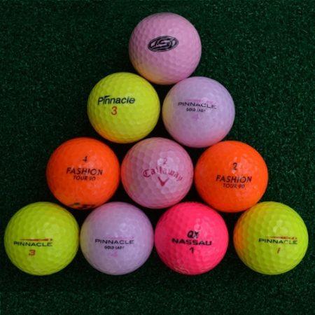 gekleurde lakeballs golfballen mix